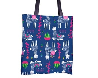 Happy Alpacas Tote Bag