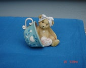Margaret - A cup full of Love - Enesco Collectible Bear Figurine - Sweet