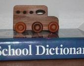 Child's Toy - Wooden School Bus - Kids Toy - Wooden Car