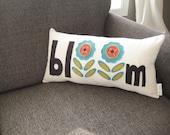 flower pillow / spring pillow / decorative throw pillow/ word pillow