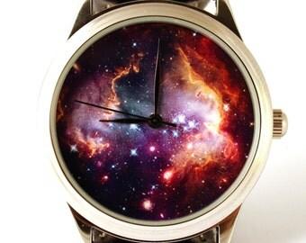 Watch space picture Nebula Hubble space photo, unisex watch, women watch, men wrist watch