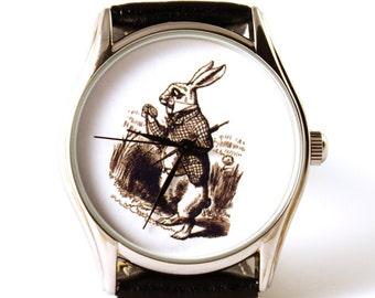 Watch White Rabbit, Alice in wonderland, mens watch, ladies watch