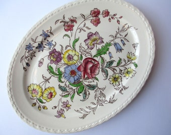 Serving Platter Vernon Kiln May Flower - Vintage Chic