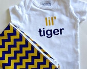 LSU Baby Gift LSU Onesie Lsu baby boy LSU Baby Girl New orleans baby Louisiana Baby Tiger Baby burp clothes burp cloths for boys burp rags