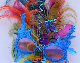 Cool Feather Cake Topper, Rock and Roll, Funky Fun, Unique to match your colors and theme