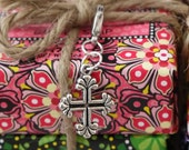 Celtic Cross Silver-tone Charm for Bookmark Keychain Necklace Bracelet by Kristin Victoria Designs