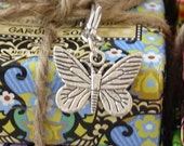 Butterfly Charm Silver-tone for Bookmark Keychain Necklace Bracelet by Kristin Victoria Designs