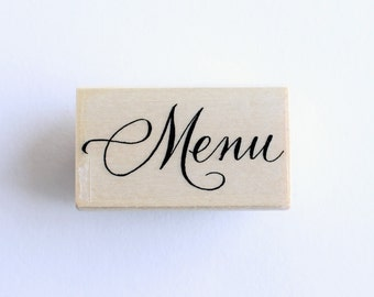 Menu rubber stamp- medium