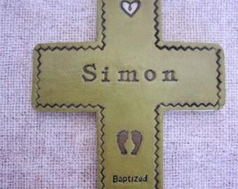 Baptismal cross for boy personalized, Baptism gift, Baptism Cross, Personalized Baptism Gift, Custom Baptism Cross, Godparents, Godchild