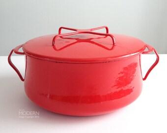 Dansk Kobenstyle Jens Quistgaard Red Enameled Covered Casserole Pot