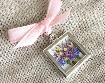 Bouquet Charm - Petite Two Sided