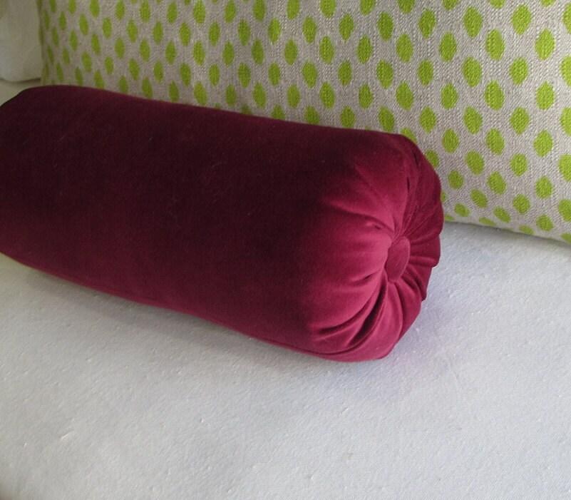 Decorative Bolster Pillow Black : VELVET CRANBERRY decorative bolster pillow by theBolsterQueens