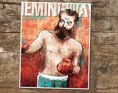 Hemingway, As Boxer - high quality 8x10 digital print