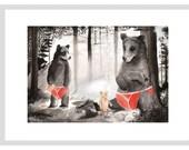 Teddy Bear's picnic - A4 Print