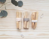 Palo Santo Smudge Bundle | Housewarming Gift | Holy Wood Fragrant Incense Trio