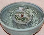 "Cat Fountain - Pet Fountain - Indoor Fountain - 9.5 Inch Diameter ""Peacock"""