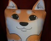 Sesame Shiba Inu Pillow Pal (small)