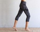 Cropped Leggings - Yoga Pants - Printed Leggings - Organic Cotton Leggings