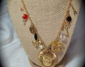 Monets Evening IN Paris France Charm Necklace.