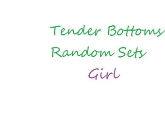 30 Ct. 2 Ply Random Sets of Tender Bottoms Wipes