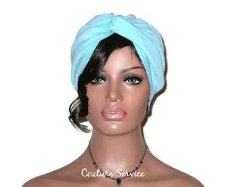 Blue Turban, Aqua Blue, Blue Cotton Turban, Women's Handmade Fashion, Stretch, Cotton Gauze, Twist, Summer Turban