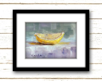 Lemon Wedge - Painting Print