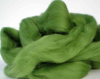 "Ashland Bay Solid Colored Merino for Spinning or Felting ""Kiwi""  4 oz."