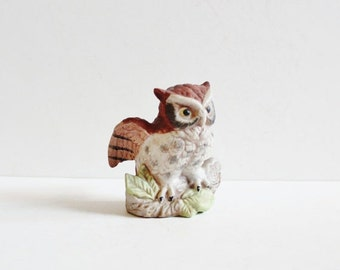 Vintage wise old owl bank brown glass by bluebutterflyvintage - Wise old owl glass bank ...