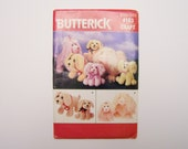 Butterick 4163 craft pattern stuffed dog sewing pattern two sizes puppy pattern uncut new condition