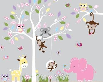 Wall Decals Nursery - Nursery wall decal - Tree decal - Children Wall decal - Nursery Tree Vinyl Decal - Nursery decals - nursery