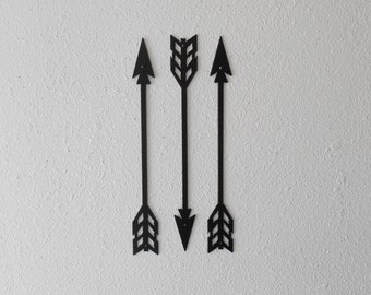 Arrows / Metal Art / Wall Decor / Set of Three / Home Decor / Arrow head / Native American / Archery / 2nd Design