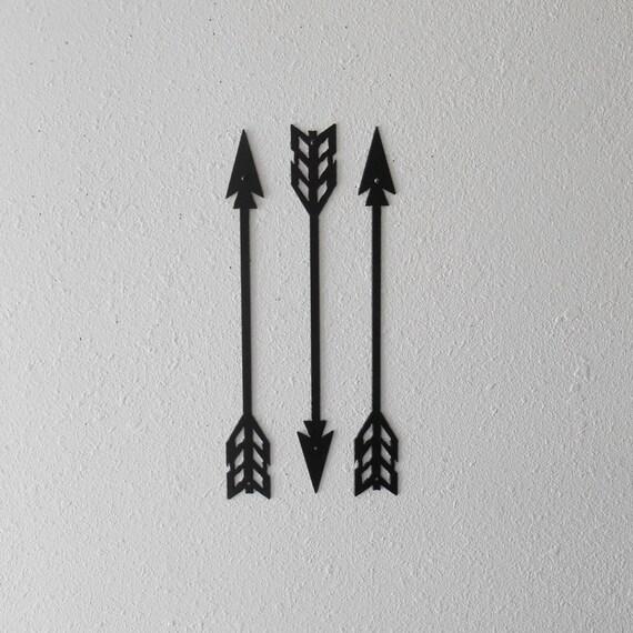 Arrows / Metal Art / Wall Decor / Set of Three / Home Decor / Arrow head / Native American / Archery / 2nd Design