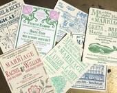 Letterpress Wedding Invitation Sample Pack