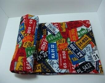 Lightweight Flannel Baby Blanket - License plates