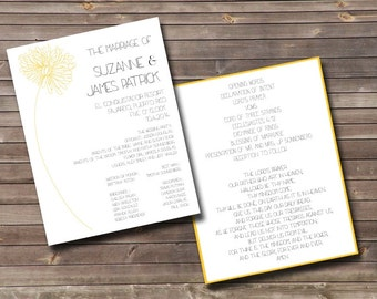 mum printable wedding programs