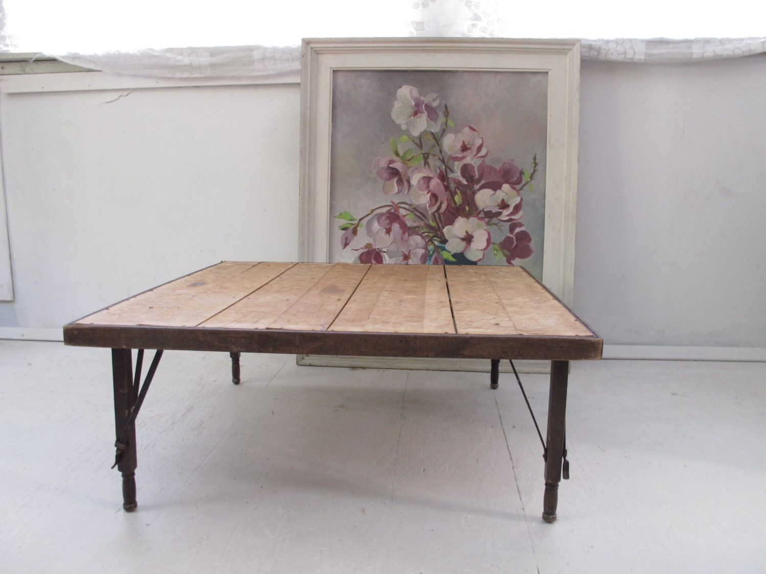 Wooden Folding Table Vintage Travel Table Gatsby by SoSylvie