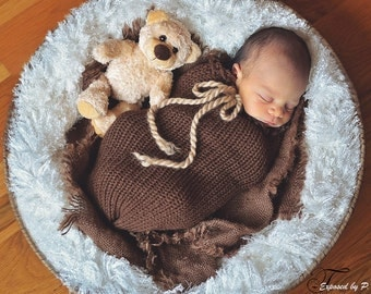 Chocolate Brown Swaddle Sack Newborn Baby Photography Prop