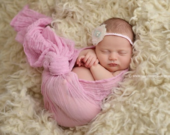 Light Pink Cheesecloth Baby Wrap Cheese Cloth Newborn Photography Layer