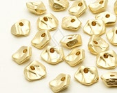 ME-193-MG / 8 Pcs - Mini Pebble Centrepiece (Large), Matte Gold Plated over Brass / 7.8mm x 8mm