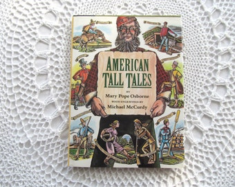 Childrens Book American Tall Tales SIGNED by Mary Pope Osborne Hard Cover 1st Edition 1991