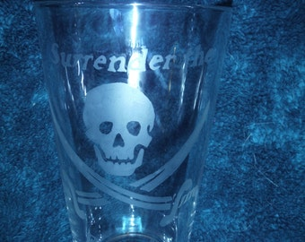 Pirate Jolly Roger Glass