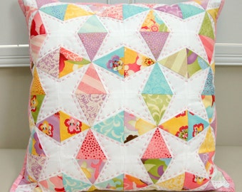 Kaleidescope Foundation Paper Pieced PDF Cushion Pattern - Immediate Download