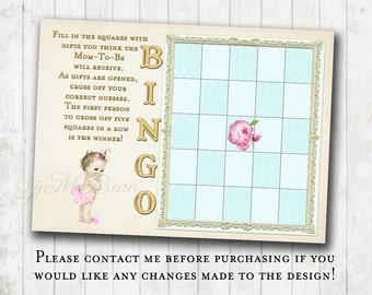 Baby Shower Bingo Game - DIY printable 5 x 7