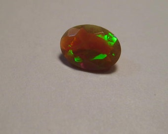 Natural Welo  Opal  ....    faceted oval shape  ....  7 x 5 x 3  mm .........           B181