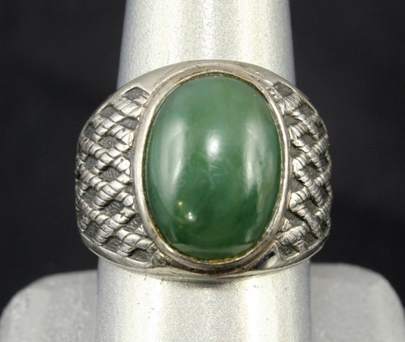 clark coombs jade ring sterling silver s by
