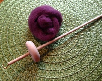 Drop Spindle Top Unfinished 1.0oz. Kit Great For Beginner To Hand Spin Fiber Into Yarn Wool Included
