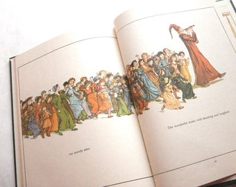 Pied Piper of Hamelin Book Kate Greenaway 19th C. Illustrations 1970s edition
