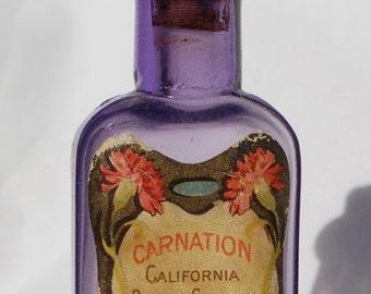 Beautiful purple Antique CALIFORNIA PERFUME Co. bottle pre- AVON, from the 1800's.  Carnitation Perfume-