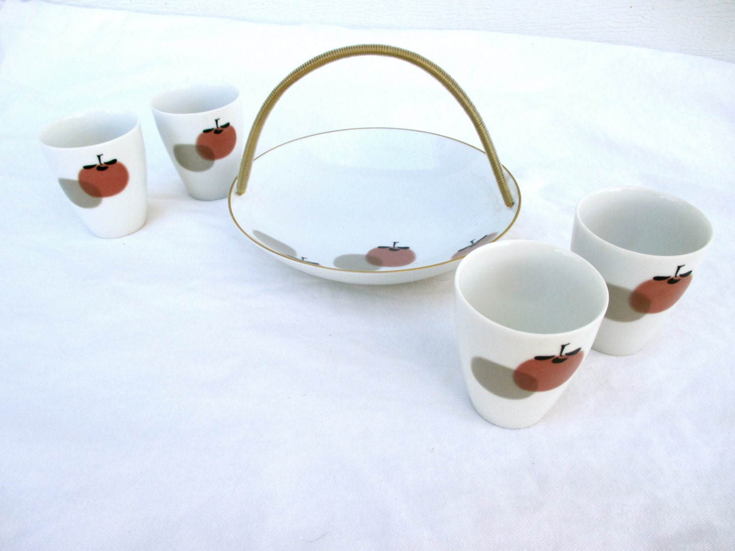 tee set japan noritake keramik porzellan persimmon design. Black Bedroom Furniture Sets. Home Design Ideas