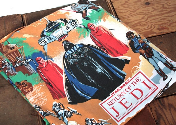 Vintage Star Wars Bed Sheet 1983 Star Wars By